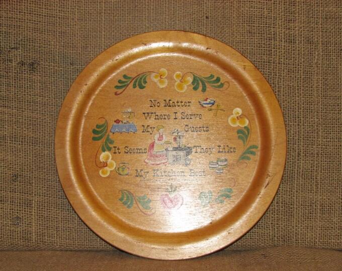 Vintage Woodcroftery, woodcroftery plaque, mid century decor, vintage kitchen decor, my kitchen best, made in the usa, antique kitchen decor
