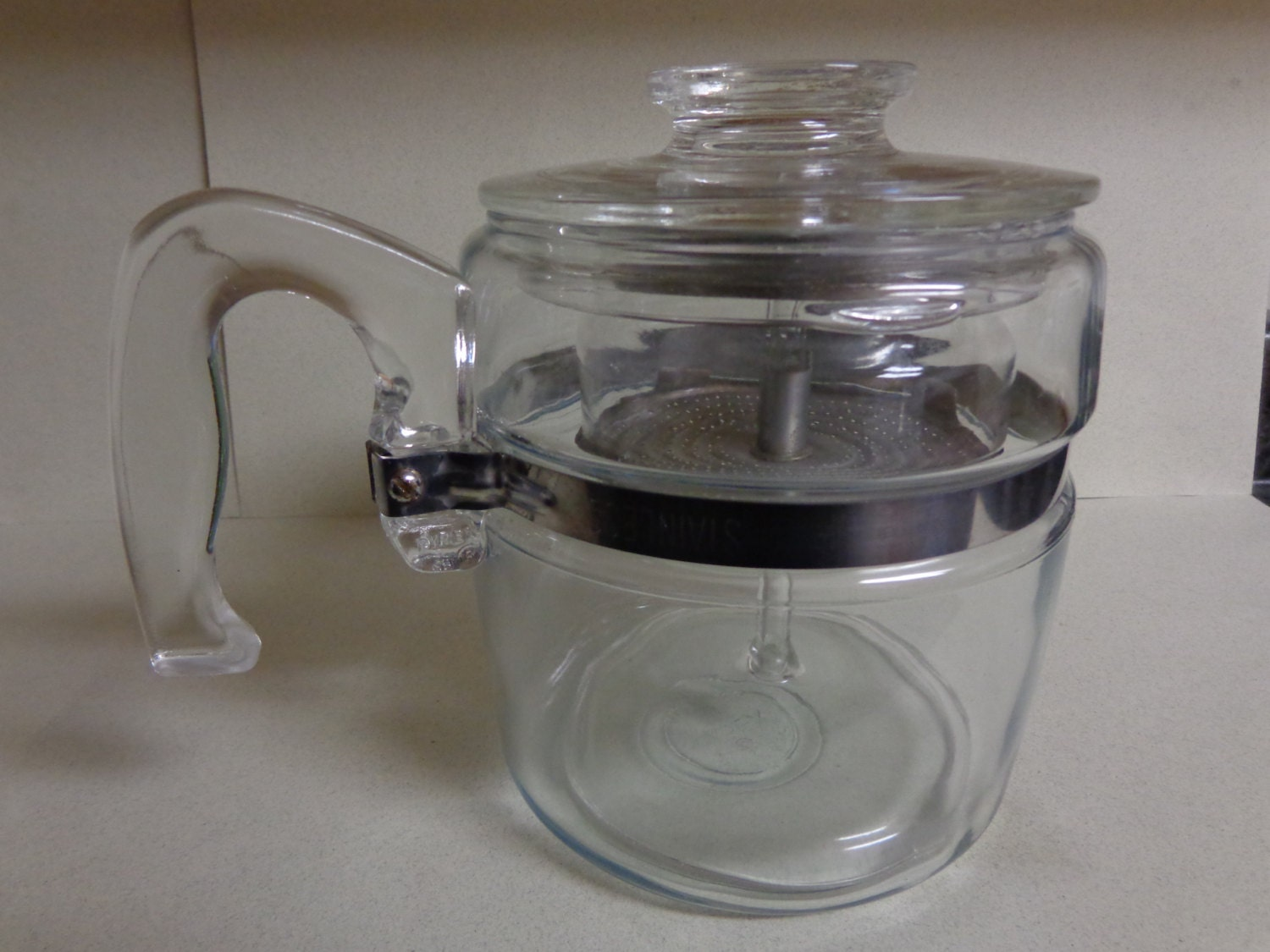 Vintage Pyrex Flameware Glass Percolator Coffee Pot 4 6 Cup