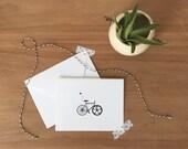 Black and White Bike Stationery Set