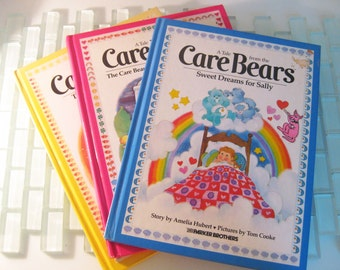 Care Bear Books Illustrated - Parker Brothers - 3 included