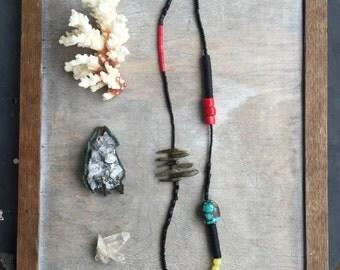 Turquoise Necklace - Gemstone Necklace - Boho Necklace - Jade Necklace - Labradorite Necklace -  Healing Crystal Jewelry - Long Necklace