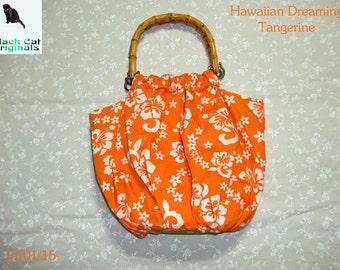 Hawaiian Dreaming Tangerine Hand Bag