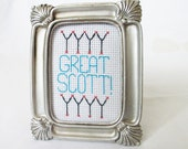 Great Scott! Back to the Future inspired Movie Quote Hoop Art