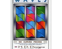 "Pattern ""Waves"" Quilt Pattern by H. D. Designs (HDD72) Paper Pattern Instructions"