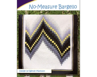 "Pattern ""No-Measure Bargello Quilt"" by Cozy Quilt Designs (CQD01114) Paper Pattern"