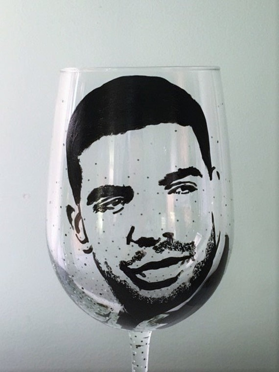 Hand Painted Wine Glass - DRAKE