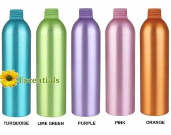 Assorted 8 Ounce Colored Aluminum Bottle - Bottle Only - 5 Pack