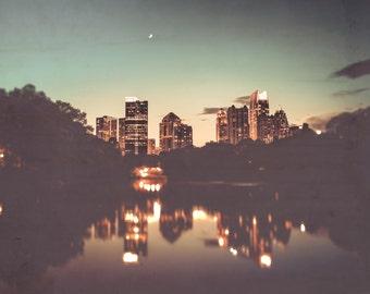 Atlanta Skyline - Atlanta Photography - City - Urban Photography - Architecture Print - Building - Church