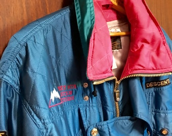 DESCENT LONG MENS coat in teal  coaches ski coat zip out liner wind proof