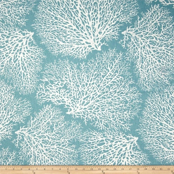Custom Shower Curtain Blue Coral By Cathyscustompillows