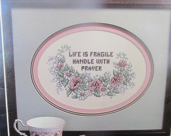 Stoney Creek Life is Fragile Counted Cross Stitch Kit