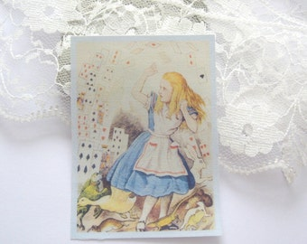 dollhouse tea towel alice 12th scale miniature