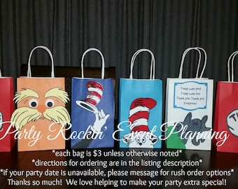 Dr. Seuss Party Favor Gift Bags!