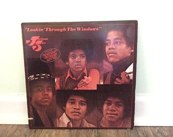 "Jackson Five ""Lookin' Through the Windows"" vinyl record"