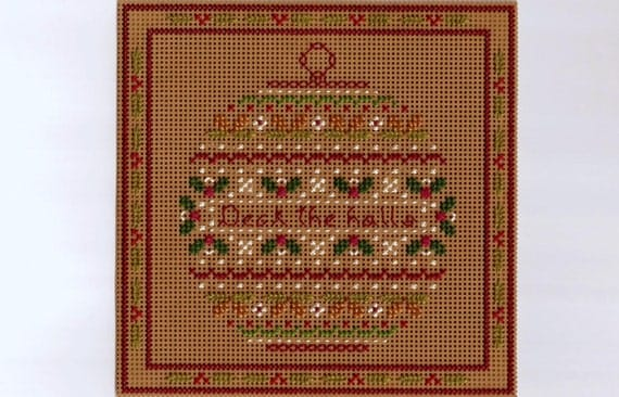 Christmas Ball Deck The Halls Counted Cross Stitch