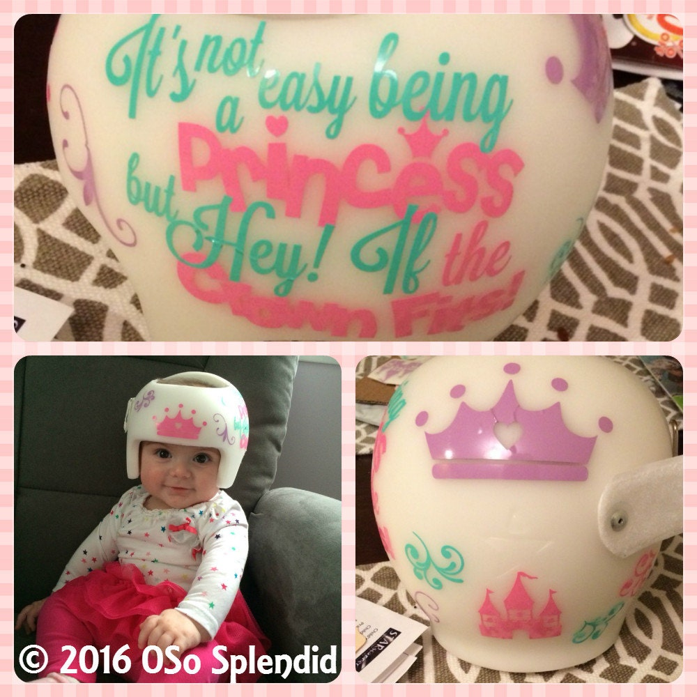 Personalized Cranial Band Decals Its Not Easy - Baby helmet decalspersonalized cranial band fairy decals just tinkering