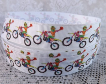 Motorcycle Ribbon 7/8 motocross grosgrain ribbon dirt bike Ribbon