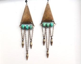 Dainty Turquoise Earrings