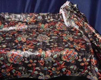 Schumacher Polished Cotton Katsura II Collection Nishiki Jacobean Print Fabric By the Yard