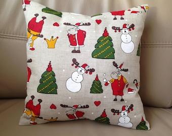 Christmas Pillow Snowmen Pillow Reindeer Pillow Santa Reindeer Pillow Holiday Pillow Christmas Décor Christmas Gift Xmas pillow covers