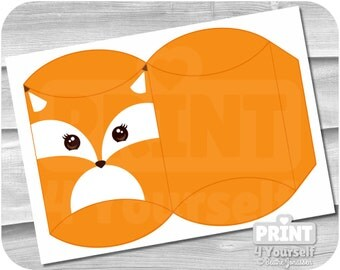 Fox Gift Box - Instant Download Printables