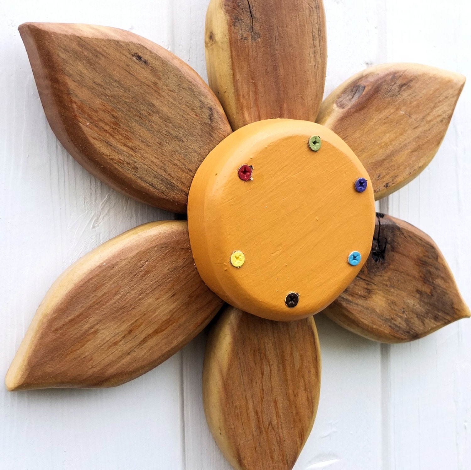 Wood Flower Wall Decor : Rustic wood wall decor wooden flowers primitive by