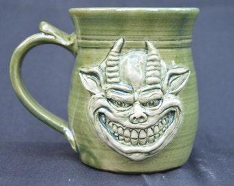 Gremlin or Goblin Clay Drinking Mug