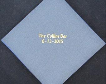 300 Custom printed beverage napkins wedding napkins party favors
