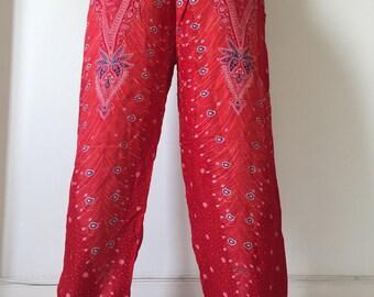 Thai Lady Pants Gypsy Pants Rayon Pants,Aladdin Pants Maxi Pants Boho Pants
