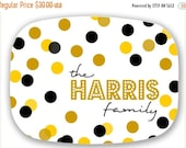 LABOR DAY SALE Personalized Melamine Platter -  christmas