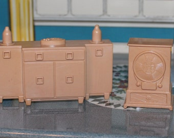 Plastic Dollhouse Furniture Renwal Bedroom Tin By Prettydish