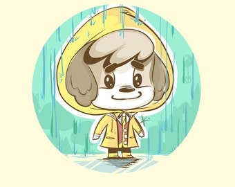 LE Print - Rainy Day Digby