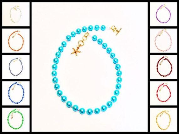 Swarovski Crystal Pearl Necklace - Starfish