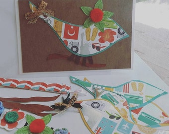 DIY Beginners Card Making Kit/Birds/Flowers/With Instructions