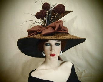 "Couture Witch Hat ""Oaken"""