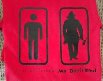 Your boyfriend - My boyfriend t shirt  Firefghter