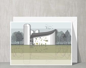 Architectural Blank Card - Notre Dame du Haute