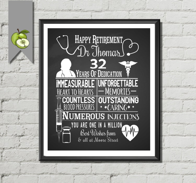 Vintage Outdoor Wedding Ideas: Nurse Retirement Gift Doctor Retirement By TheArtyApples