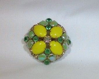 Yellow and Green Brooch