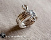 RESERVED for Caitie: custom helical ring with eight pendants in sterling silver