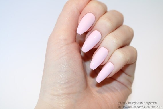 pastel pink coffin nails nail designs nail art nails