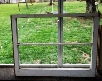 Vintage Wooden Window Old Wood Window With Both Panes of Glass