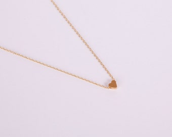 Golden Necklace Gold Heart Love Chain Hearts Gold Plated Chain Gold Plated Perl Heartbead Bead