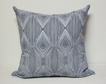 Nate Berkus Paramount Navy Geometric Design pillow, nate berkus pillow, blue tribal pillow cover
