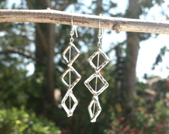 Three-Helix Diamond Earrings - Free Shipping US