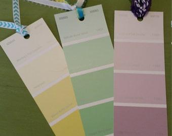 Handmade Paintchip Bookmarks