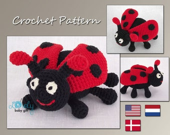 Amigurumi Crochet Pattern, Crochet Pattern, Ladybug, Animal Crochet Pattern, CP-115
