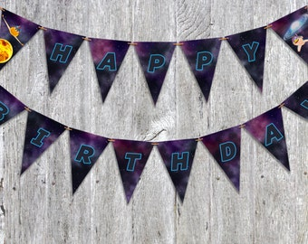 Space Racers printable party banner