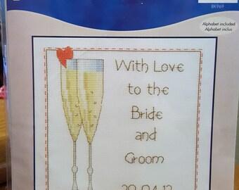 CELEBRATION SAMPLER - DMC Counted Cross Stitch Kit - BK969 Wedding Love