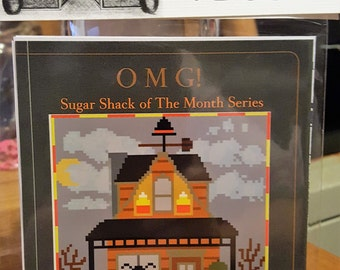 OCTOBER Candycorn Chalet - Cross Stitch Chart OMG #30 Counted Confections